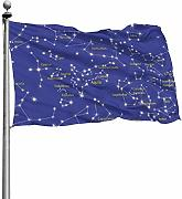 Tiffany Church Constellations Outdoor Flag -