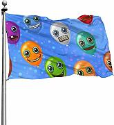 Tiffany Church Monster Balloons Outdoor Flag -