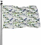 Tiffany Church PEA Blossoms Outdoor Flag -
