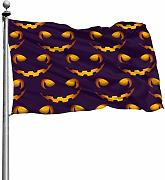 Tiffany Church Scary Faces Outdoor Flag -