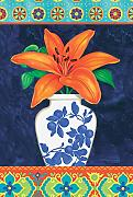 Toland Home Garden China Vase Lily Dekorative