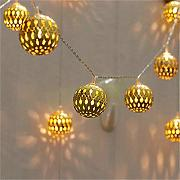 Twinkle Star 40 LED Globe Lichterkette, goldene,