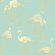 Vintage - Lagoon Weiches Blau Tapete - Arthouse -