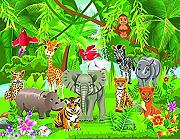 VLIES Fototapete (1685V) KIDS JUNGLE ANIMALS