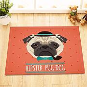 vrupi Trendy Pug-Dog Muster küche Bad dusche