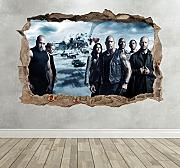 Wall Decor 247 Fast and Furious 8 3D Breakout