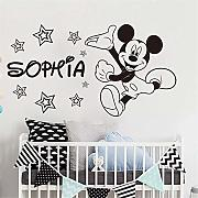 Wandaufkleber Kinderzimmer Mickey Minnie Mouse