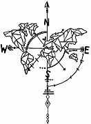 Wandaufkleber Simple Style Geometric Compass