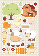 Wandsticker Baby Farm