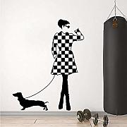 Wandsticker Jhping Ladies & Dogs Fashion Style