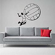 Wandsticker Jhping Volleyball Personalisierte Pvc