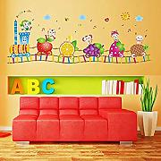 Wandsticker Kinderzimmer Cartoon Zug,
