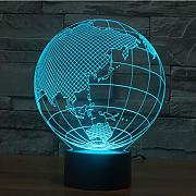 Wangshengchao 3D Lamp Globe LED Nachtlicht 7Color