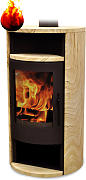 Warmluft Kaminofen Florida Tinjan 6,5 kW Holzdesign