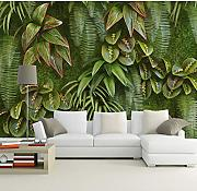 WH-PORP Plant Green Grass Leaf 3D tapete Murals