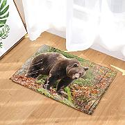 Wild Animal Decor, Wildlife Bears Walking in The