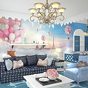 Wongxl Cute Cartoon Ballon Kinderzimmer Wand