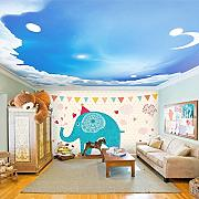 Wongxl Kinderzimmer Tapete Wallpaper Cartoon