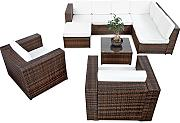 XINRO® 25tlg. Deluxe Lounge Garnitur Set Gruppe