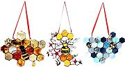 YARNOW 3Pcs Honig Suncatcher Bee Honeycomb