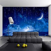 Yologg Blue Night Sky Kinderzimmer Hintergrund