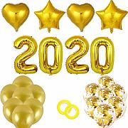 Yves25tate Silvester Dekoration Set 2020 Happy New