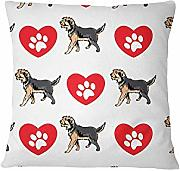 YYSIX Armant Dog Heart Paws Schlafsofa Home Decor