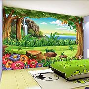 zxfcccky 3D Wallpaper Kinder Cartoon Wald